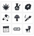 Drugs icon set vector