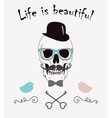 Life is beautiful funny vector