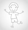 Kid draw vector