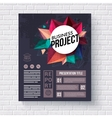 Business web template on brick wall background vector