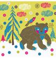 Forest animals screenprint vector
