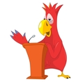 Funny parrot presentation vector