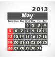 Calendar 2013 may vector