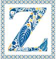 Blue letter z vector