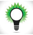 Green leaf around bulb vector