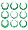 Green laurel wreaths 1 vector