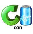 A letter c for can vector