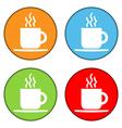 Coffee button set vector