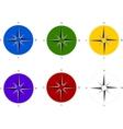 Compass set vector