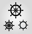 Rudder for boat and ship logo icon stock vector