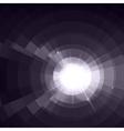 White thunder isolated on black background vector