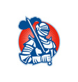 Knight full armor with sword retro vector