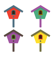 Colorful birdhouses vector