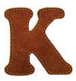 Leather textured letter k vector