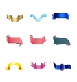 Set of 4 ribbon premium ribbon vector
