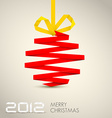 Simple christmas decoration vector