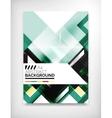 Flyer brochure design template layout vector