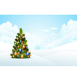 Winter background with fir-tree vector