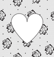 Heart on a background of floral lace vector