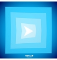 Modern blue arrow creative clean background vector