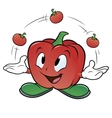 Juggling tomato vector