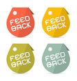 Feedback retro paper icons set vector