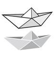 Origami paper boat vector