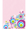 Color flowers on pink grunge background vector
