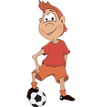 A soccer player cartoon vector