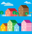 Colorful house icon flat style vector