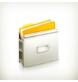 Open card catalog icon vector