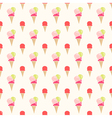 Colorful flat style ice cream seamless pattern vector