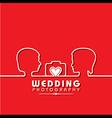 Wedding photography concept stock vector