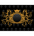 Retro frame with heraldic crown - vector