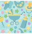 Seamless background with babys objects vector