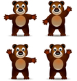 Cute brown bear vector