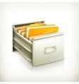 Open card catalog icon vector