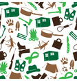 Simple backwoodsman icons seamless pattern eps10 vector
