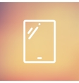 Touch screen tablet thin line icon vector