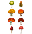 Eight different trees vector