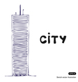 Tower building vector