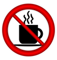 No coffee cup sign vector