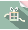 Paper retro gift box present box on retro vector