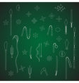 Ninja weapon on green board vector