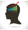 Market graph in human head vector