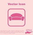 Sofa icon symbol furniture icon home interior vector