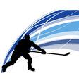 Hockey background vector