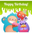 Birthday monsters card vector