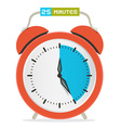 25 - twenty five minutes stop watch - alarm clock vector
