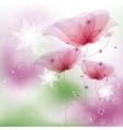 Pink poppies vector